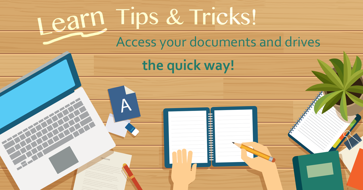Access your documents, desktop, pictures . . .